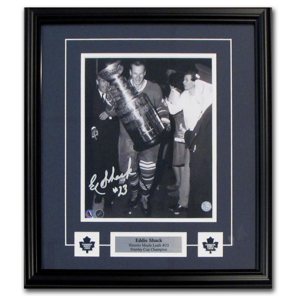 Eddie Shack Autographed Toronto Maple Leafs Framed 8X10 Photo