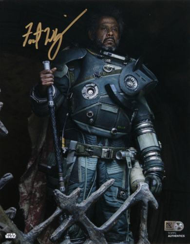 Forest Whitaker as Saw Gerrera Autographed In Gold Ink 8x10 Photo