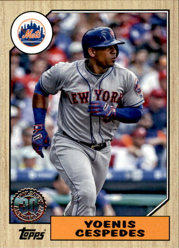 Photo of 2017 Topps '87 Topps #8724 Yoenis Cespedes
