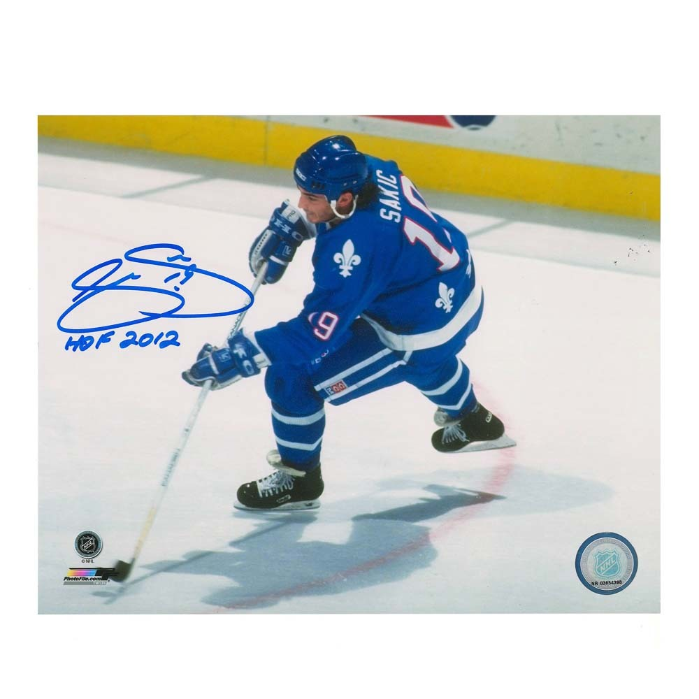 JOE SAKIC Signed Quebec Nordiques 8 X 10 Photo  - 70474