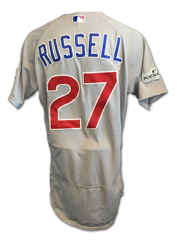 Addison Russell Game-Used Jersey -- NLDS Game 2 -- Cubs at Nationals -- 10/7/17