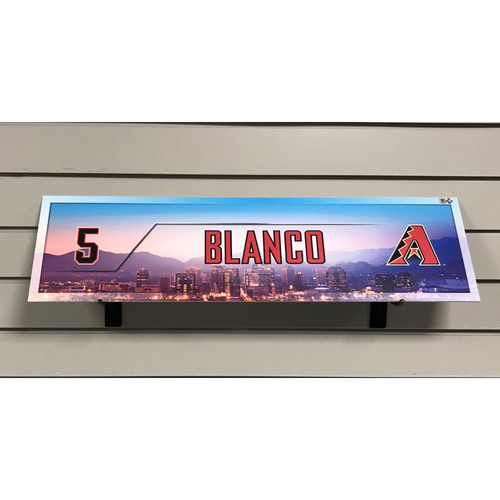 Photo of Gregor Blanco Game-Used 2017 Season Nameplate
