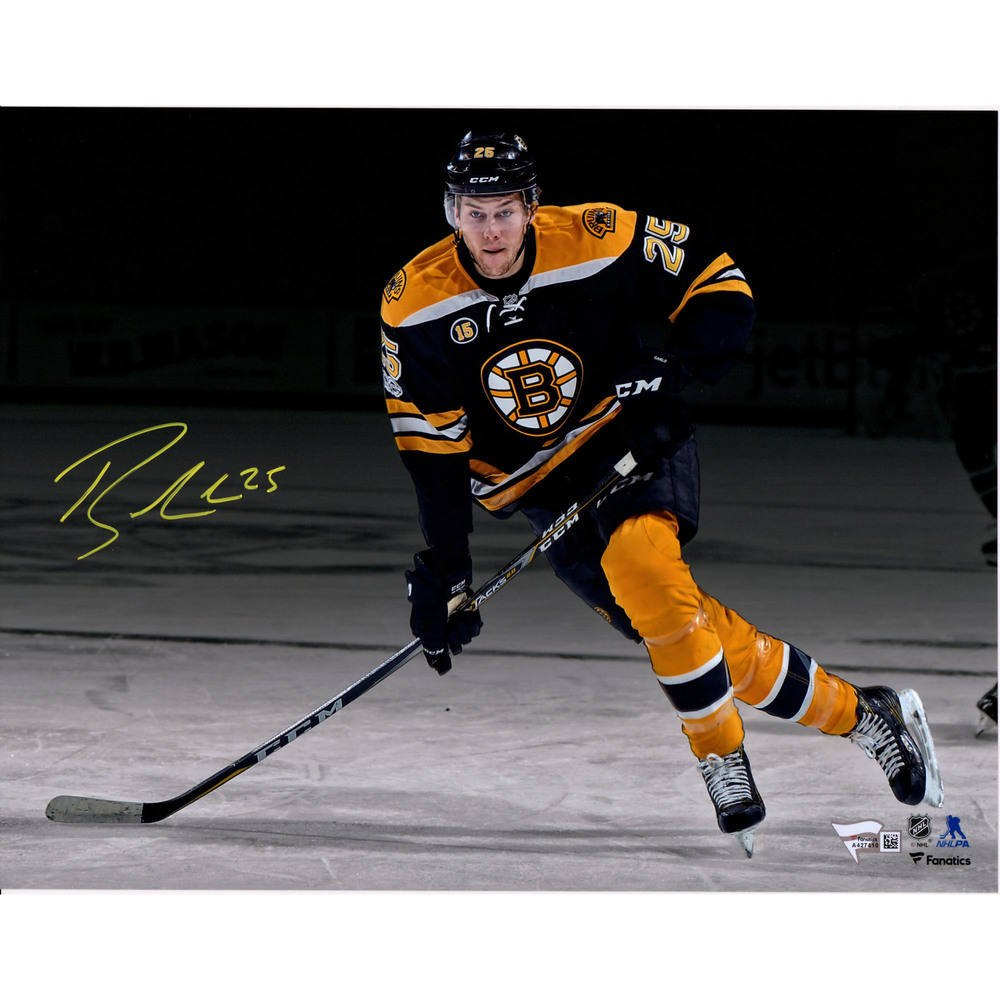 Brandon Carlo Boston Bruins Autographed 11