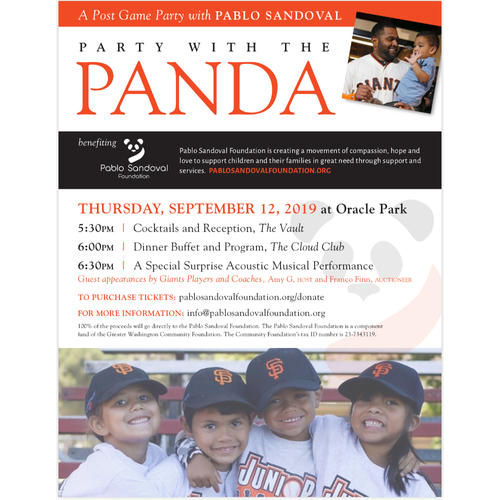 Photo of Party with the Panda - September 12th at Oracle Park - VIP Ticket