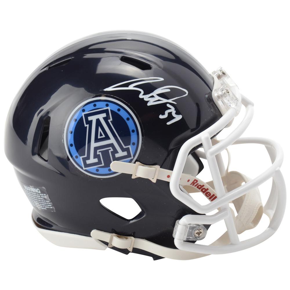Auston Matthews Toronto Maple Leafs Autographed Toronto Argonauts Mini Helmet