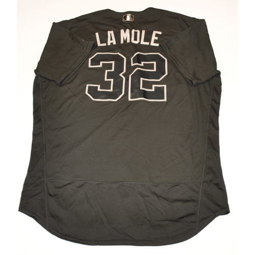 "Photo of Franmil ""La Mole"" Reyes Cleveland Indians Game-Used 2019 Players' Weekend Jersey"