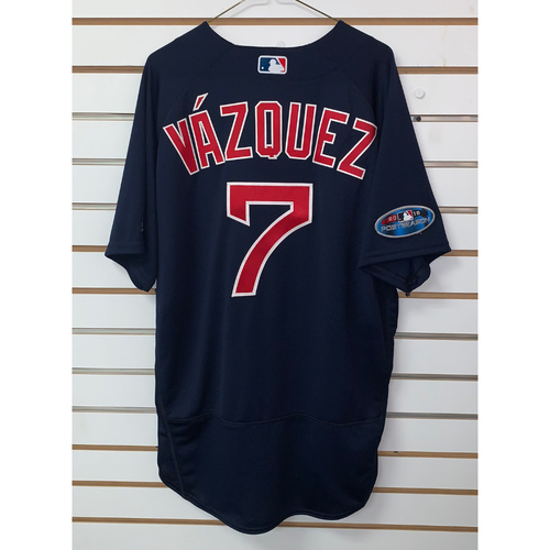 Photo of Christian Vazquez Team Issued 2018 Postseason Road Alternate Jersey