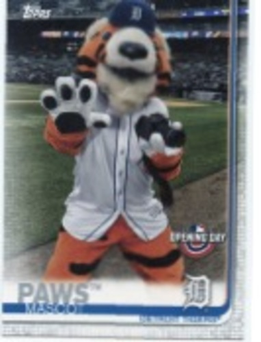 Photo of 2019 Topps Opening Day Mascots #M13 Paws