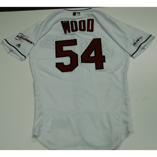 Photo of Hunter Wood 2019 Team Issued Home White Jersey