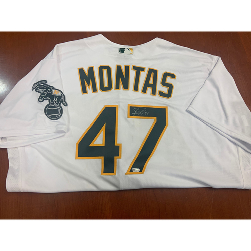 Photo of Oakland A's Community Fund: Frankie Montas Autographed Jersey