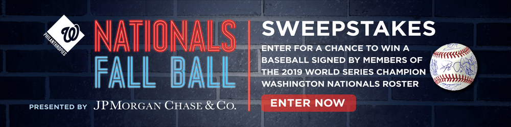 2020 WASHINGTON NATIONALS FALL BALL SWEEPSTAKES