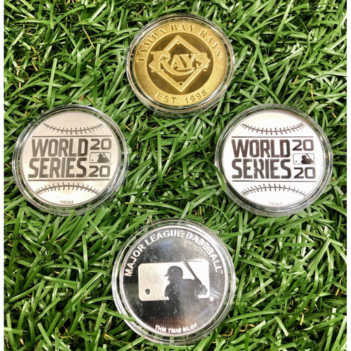 Photo of Rays Baseball Foundation: 4-Coin Package - Tampa Bay Rays, 20th Anniversary, A.L. Champions and World Series
