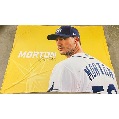 Photo of Rays Baseball Foundation: Tropicana Field Stadium Banner - Charlie Morton - NOT MLB Authenticated
