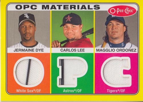 Photo of 2009 O-Pee-Chee Materials #DLO Magglio Ordonez/Carlos Lee/Jermaine Dye