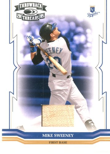 Photo of 2005 Throwback Threads Material Bat #58 Mike Sweeney/250