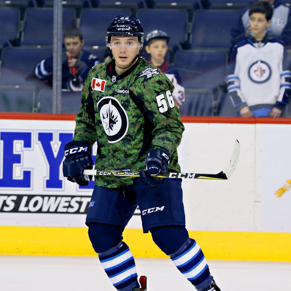 Marko Dano Winnipeg Jets Warm Up Worn Canadian Armed Forces jersey