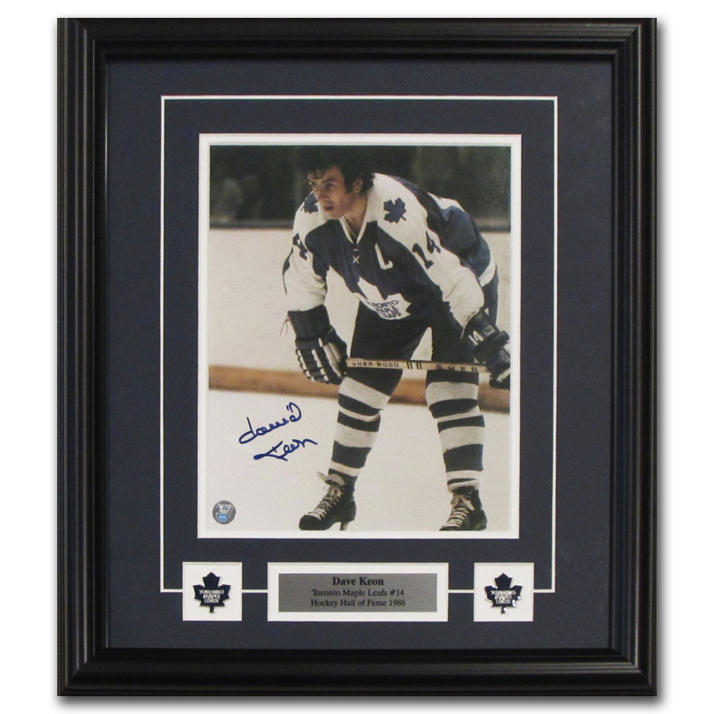 Dave Keon Autographed Toronto Maple Leafs Framed 8X10 Photo