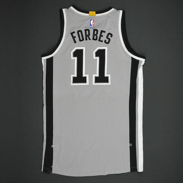 f8673d685746 Bryn Forbes - San Antonio Spurs - Gray Playoffs Game-Worn Jersey ...