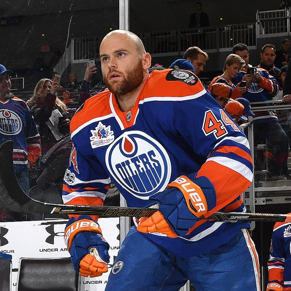 b61bee026c4 Zack Kassian  44 - Autographed Edmonton Oilers Pre-game Warm Up Worn Jersey  From March 7