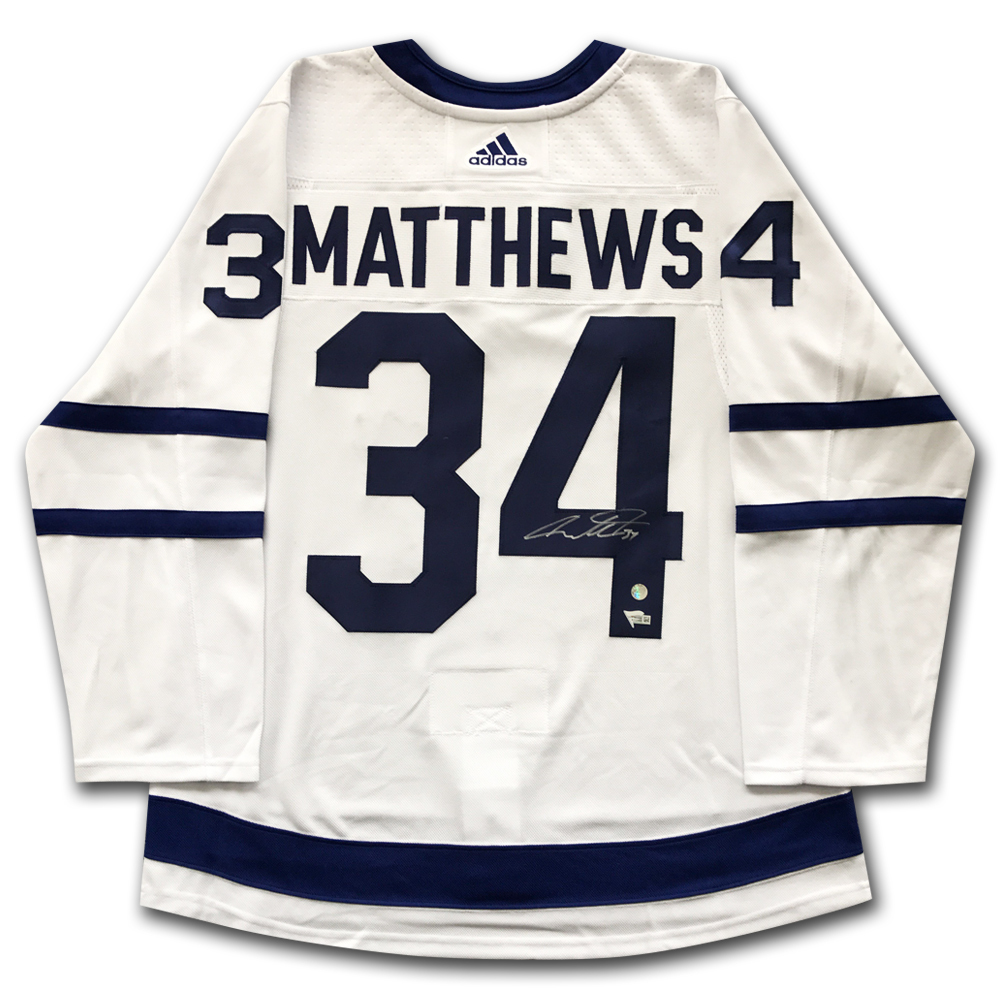 info for b8da2 01901 Auston Matthews Autographed Toronto Maple Leafs adidas Pro ...