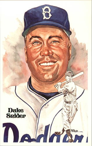 Photo of 1980-02 Perez-Steele Hall of Fame Postcards #172 Duke Snider -- HOF Class of 1980