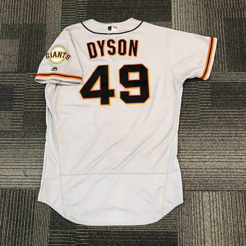 Photo of San Francisco Giants -2017 Game-Used Road Alternate Jersey worn by #49 Sam Dyson
