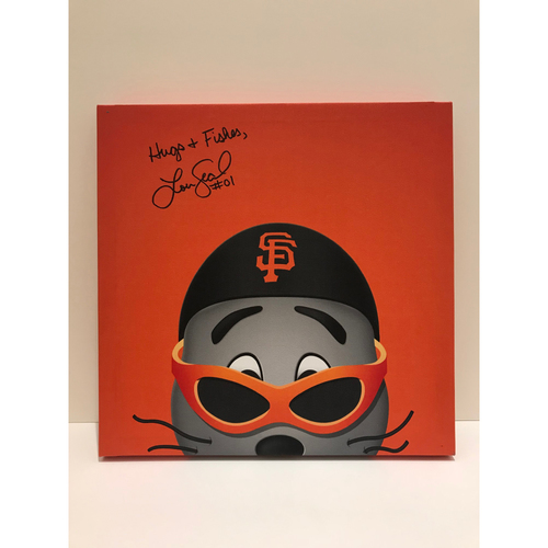 Photo of Autographed Lou Seal Canvas Print - Giants