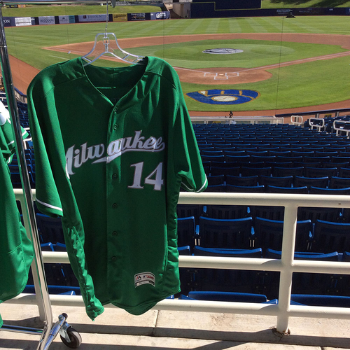 Photo of Hernan Perez 2018 Team-Issued St. Patrick's Day Jersey