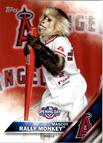 Photo of 2016 Topps Opening Day Mascots #M3 Rally Monkey