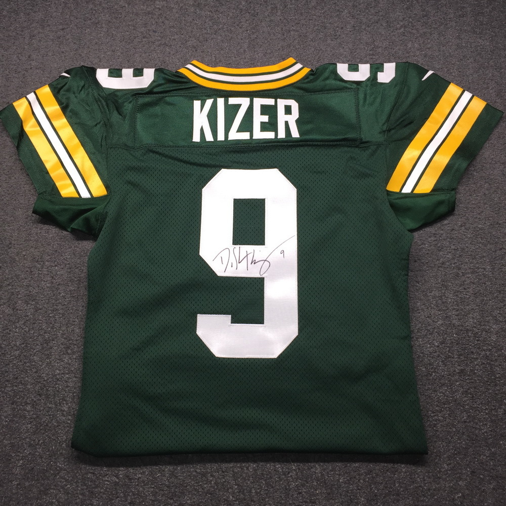 Crucial Catch - Packers DeShone Kizer Signed Game issued Jersey Size 46 w/ 100 Seasons Patch