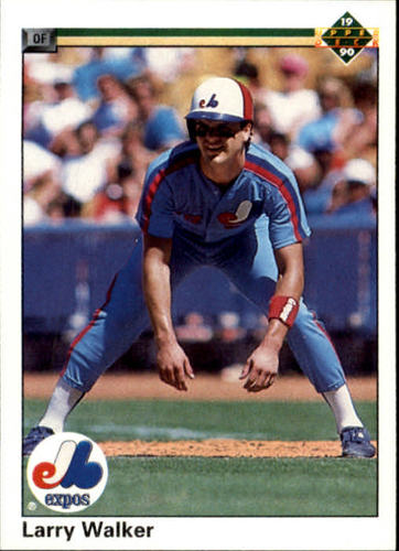 Photo of 1990 Upper Deck #466 Larry Walker Rookie Card