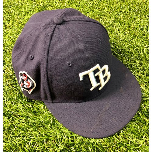 Photo of Game Used 9/11 Commemorative Cap: Diego Castillo - September 11, 2019 at TEX