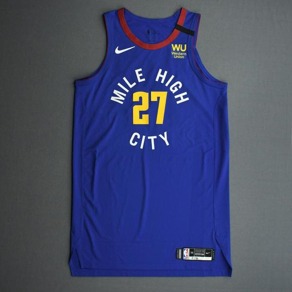 Image of Jamal Murray - Denver Nuggets - Game-Issued Statement Edition Jersey - 2019-20 NBA Season Restart with Social Justice Message