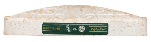 Photo of Game-Used 3rd Base -- Used in Innings 5 through 9 -- White Sox vs. Cubs -- 8/22/20