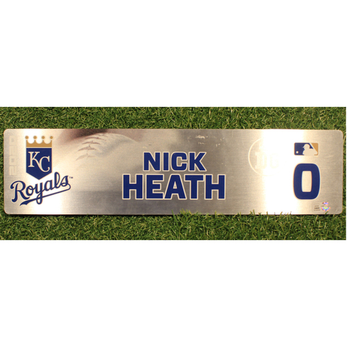 Photo of Game-Used Locker Tag: Nick Heath #0 (DET @ KC 9/24/20)