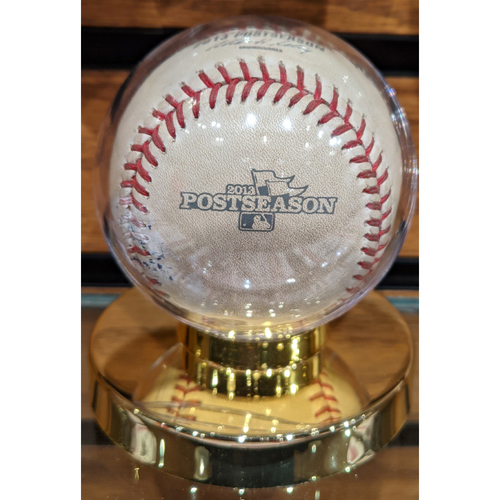 Photo of 2013 ALCS Game 6 October 19, 2013 Red Sox vs. Tigers Game Used Baseball - Clay Buchholz to Miguel Cabrera
