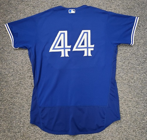 Photo of Authenticated Game Used Spring Training Jersey: #44 Rowdy Tellez (Mar 26, 2021: 0-for-3). Size 50.