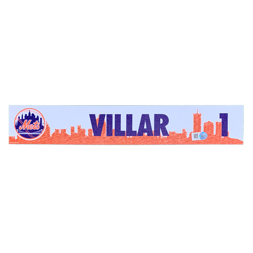 Photo of Jonathan Villar #1 - Team Issued Locker Nameplate - 2021 Spring Training