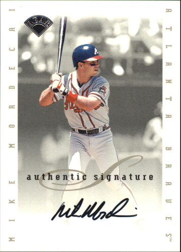 Photo of 1996 Leaf Signature Extended Autographs #132 Mike Mordecai