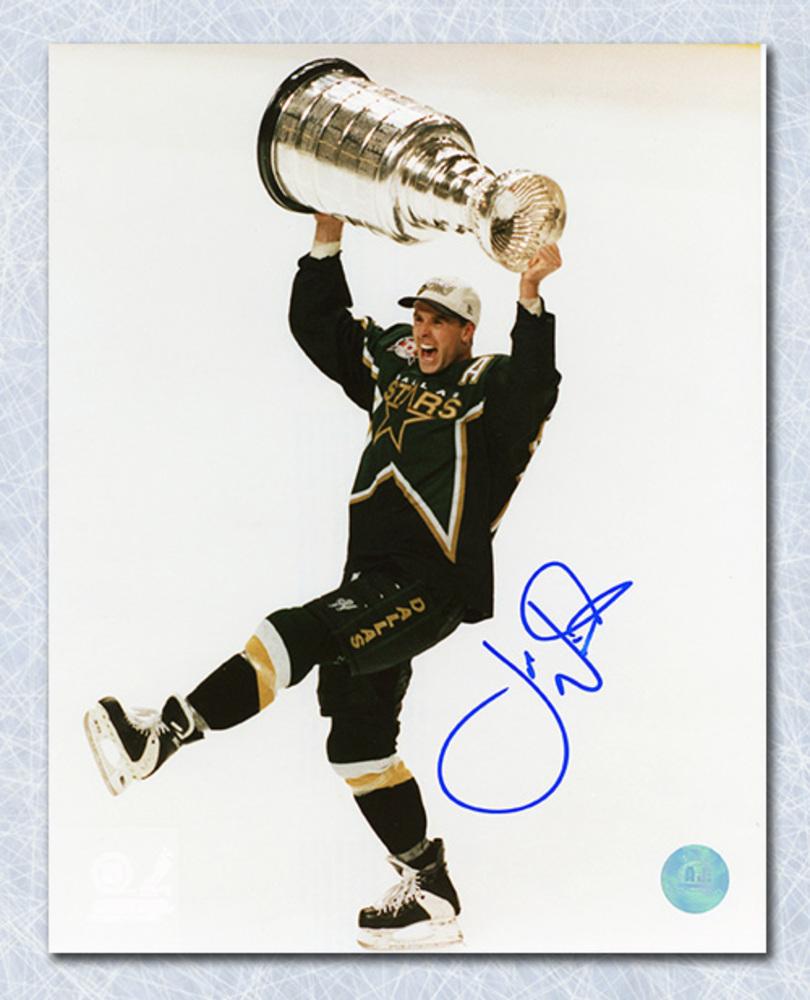 Joe Nieuwendyk Dallas Stars Autographed 1999 Stanley Cup 8x10 Photo