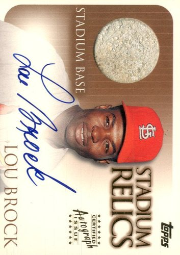 Photo of 2000 Topps Stadium Autograph Relics #SR7 Lou Brock Base