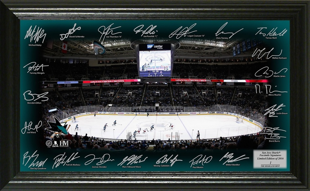 Serial #1 San Jose Sharks Signature Rink