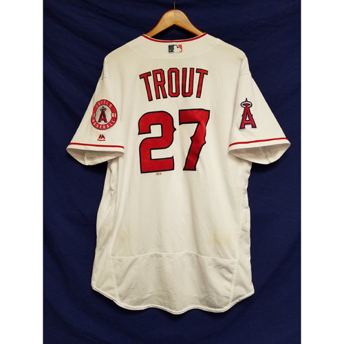 Mike Trout Game-Used Home Run Jersey