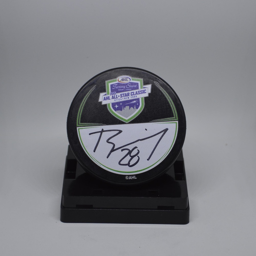 2015 AHL All-Star Classic Souvenir Puck Signed by #28 Brandon Manning