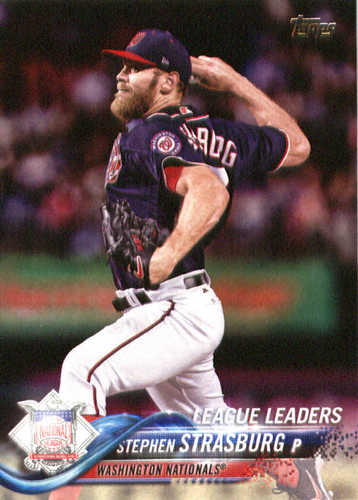 Photo of 2018 Topps #335 Stephen Strasburg LL