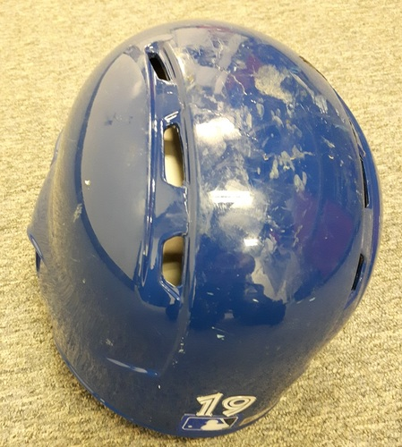 Photo of Authenticated Team Issued Helmet - #19 Jose Bautista (2016 Season). Size 7 1/8.