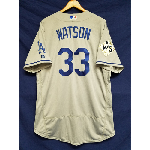 Photo of Tony Watson 2017 Road World Series Team-Issued Jersey