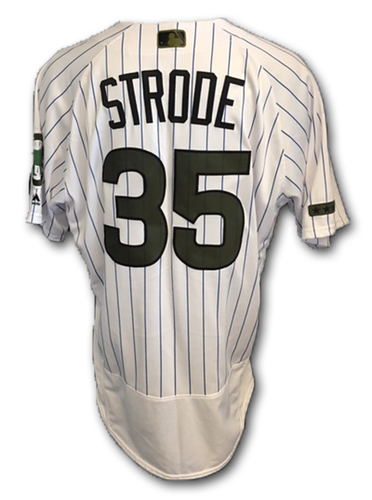 Photo of Lester Strode Team-Issued Memorial Day Jersey -- Giants vs. Cubs -- 5/27/18