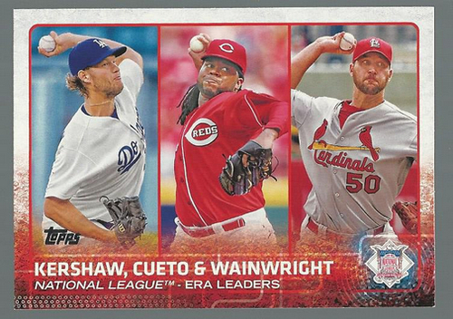 Photo of 2015 Topps #61 Johnny Cueto/Clayton Kershaw/Adam Wainwright LL