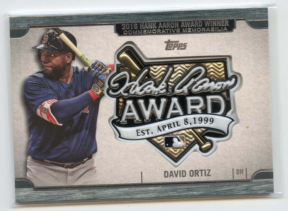 2017 Topps Update Hank Aaron Award Relics #HADO David Ortiz
